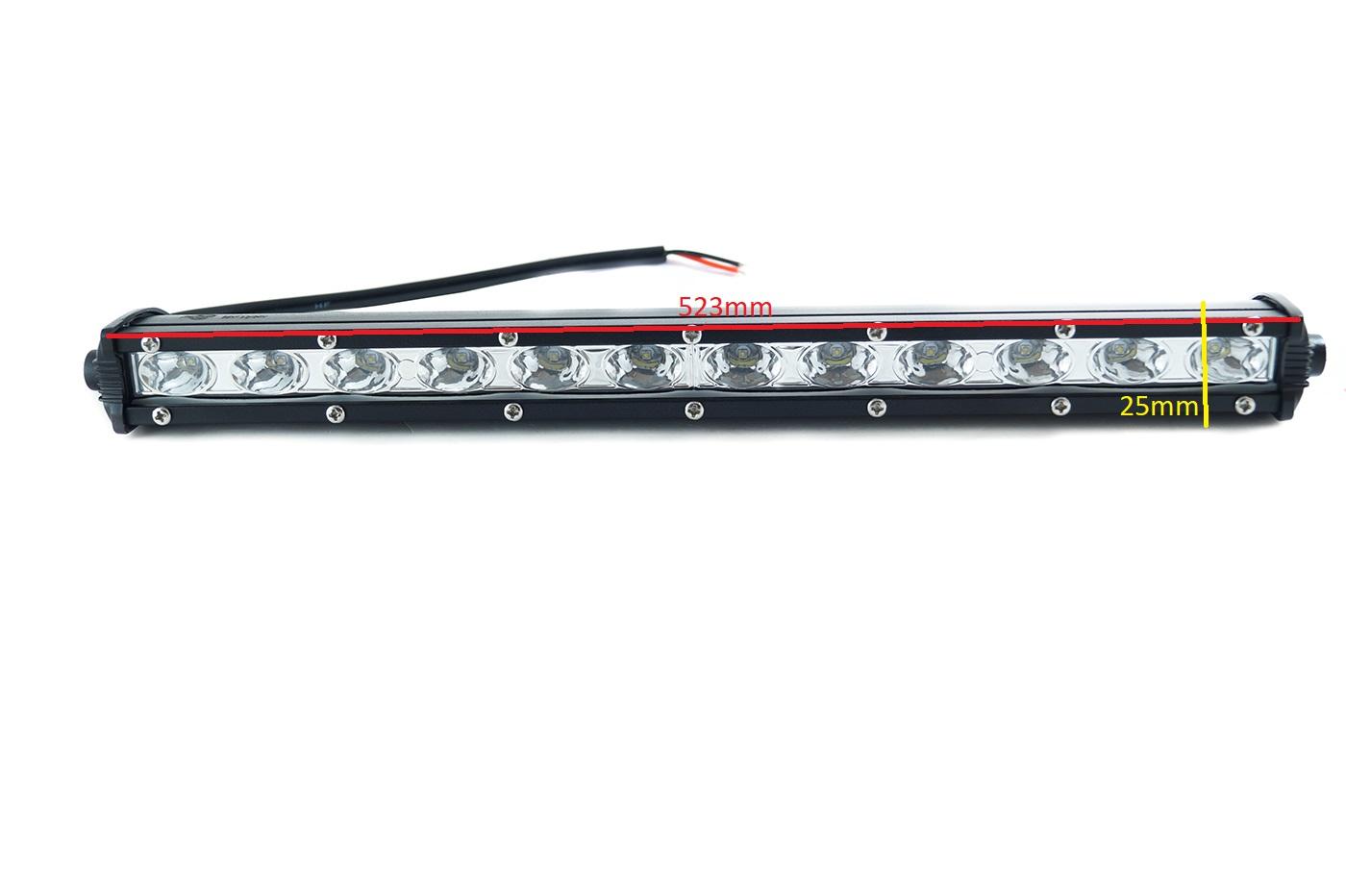 LED αδιάβροχος προβολέας μπάρα 54W 10~30V 18SMD 3.700lm 6000k