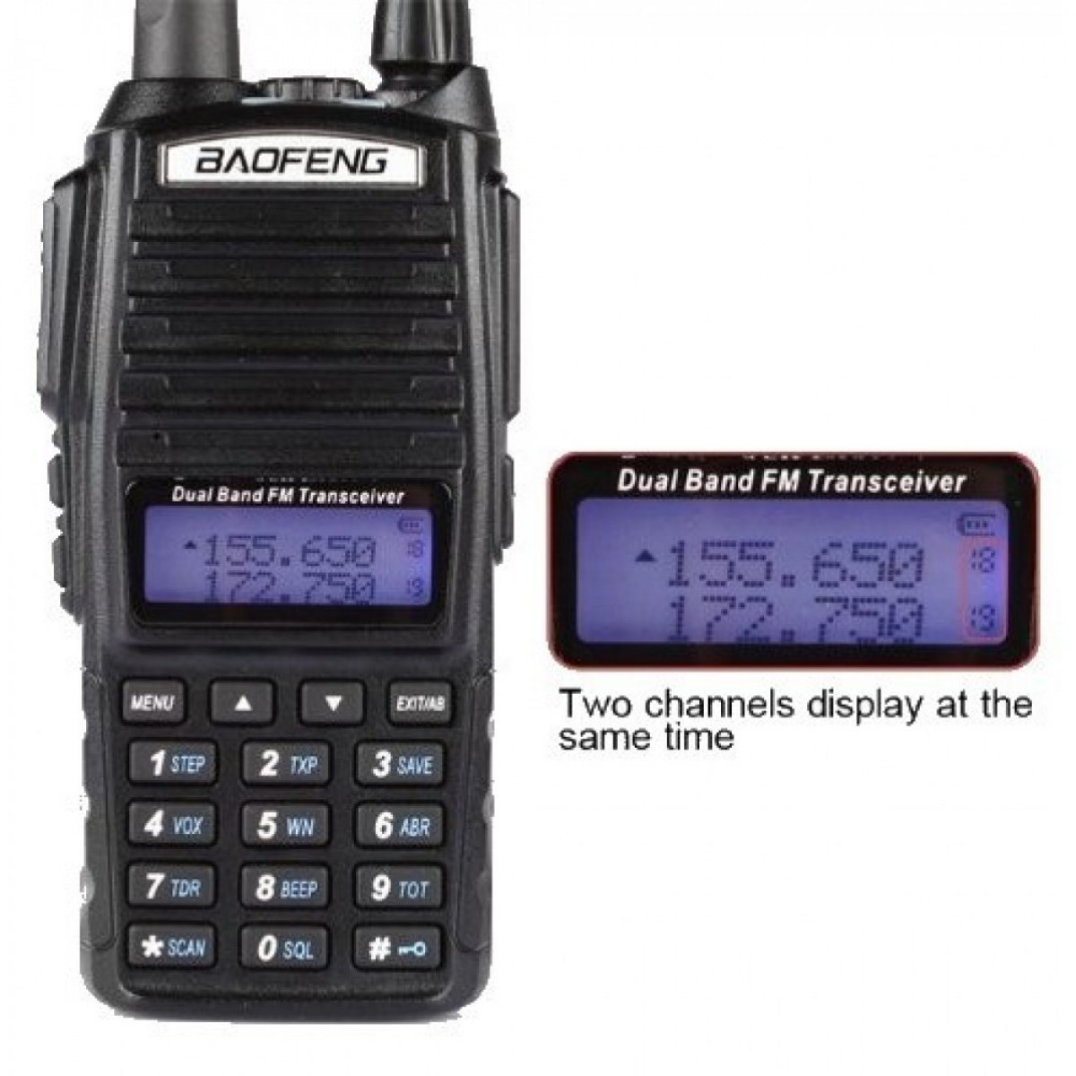BAOFENG ΑΣΥΡΜΑΤΟΣ DUAL BAND ΠΟΜΠΟΔΕΚΤΗΣ VHF/UHF UV-82