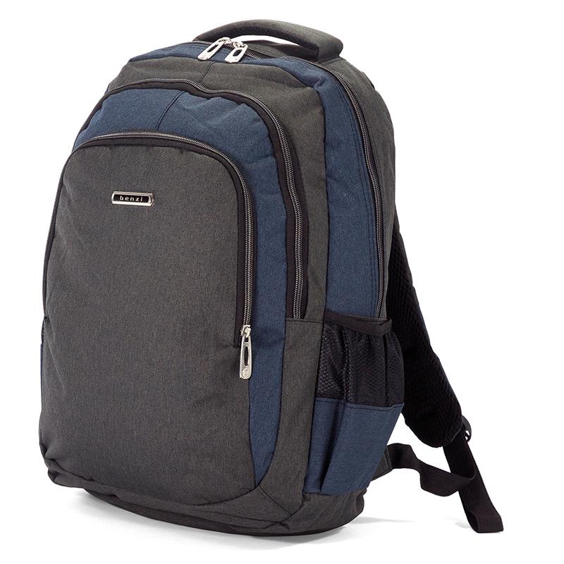 Σακίδιο Πλάτης 44εκ Benzi BZ5074 Μαύρο-Μπλε