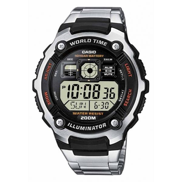 CASIO CA14 Μπαταρία υψηλής αντοχής (10 χρόνια) Πέντε ξυπνητήρια Αυτόματο ημερολόγιο Χρονογράφος Δευτερολέπτου