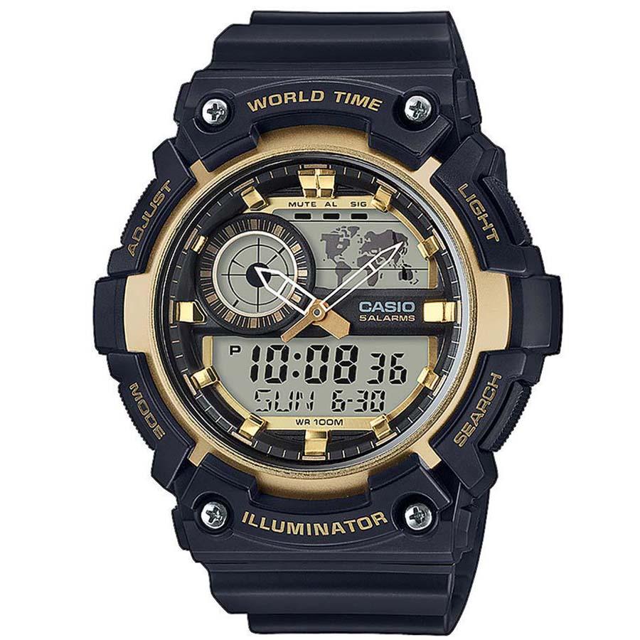 CASIO CA98 Φθορίζων φωτισμός με led Παγκόσμια ώρα Διπλή αναλογική οθόνη Χρονόμετρο - 1/100 δευτ. - 24 ώρες Χρονόμετρο - 1/1 δευτ. - 24 ώρες Αυτόματο ημερολόγιο