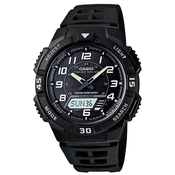 CASIO CA27 Hλιακό-Φως Παγκόσμια ώρα Χρονόμετρο Τimer 5 ξυπνητήρια Ημερολόγιο 12/24 Ένδειξη μπαταρίας