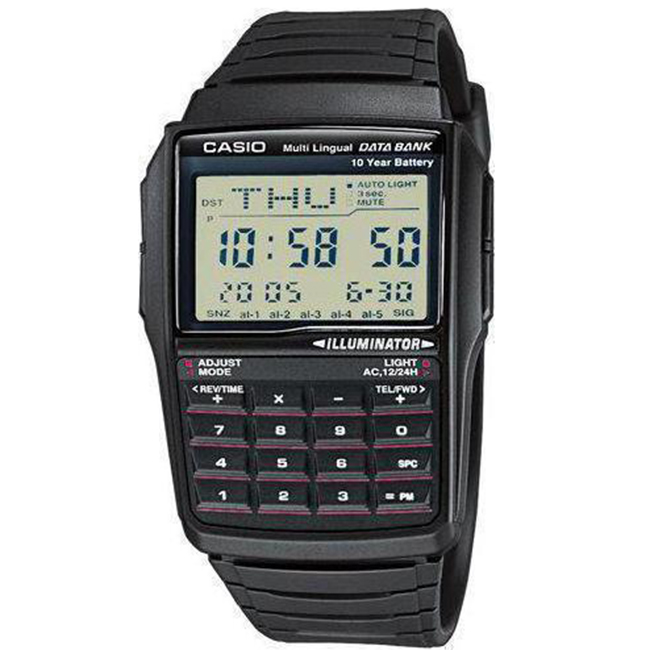 CASIO CA65 Αυτόματος Φωτισμός LED Τηλεφωνικός κατάλογος (έως 25 καταχωρήσεις) Αριθμομηχανή 8 ψηφίων Μετατροπέας νομισμάτων Διπλή Ώρα Αυτόματο ημερολόγιο Ξυπνητήρι Εμφάνιση της ημέρας σε διάφορες γλώσσες