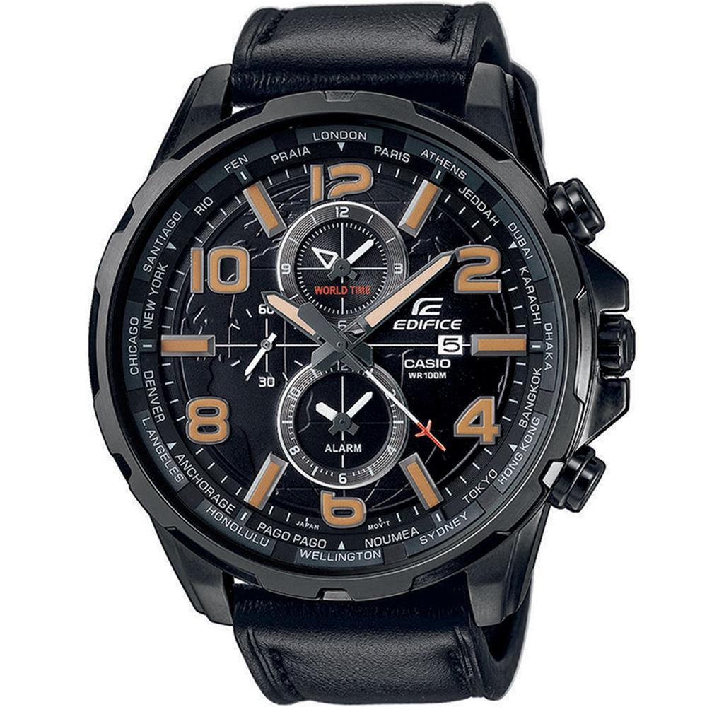CASIO EDIFICE EFR-302L-1AVUEF Δεύτερη ώρα GMT Ένδειξη ημερομηνίας Ξυπνητήρι Οθόνη με επικάλυψη Neobrite