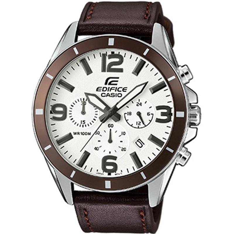 CASIO EDIFICE EFR-553L-7BVUEF Ημερομηνία Χρονογράφος Δευτερολέπτου Totalizer 24ωρου