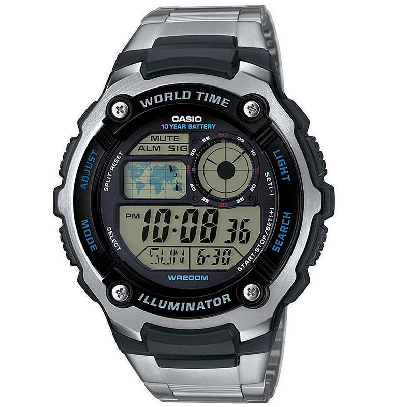 CASIO CA73 Φωτισμός οθόνης με LED Λειτουργία παγκόσμιας ώρας Χρονόμετρο 1/100δευτ. (έως 24hr) Χρονόμετρο αντίστροφης μέτρησης 1/1min (έως 24hr) Ημερήσιο και ωριαίο ηχητικό σήμα (έως 5 ήχους) Αυτόματο ημερολόγιο 12ωρη/24ωρη ένδειξη της ώρας