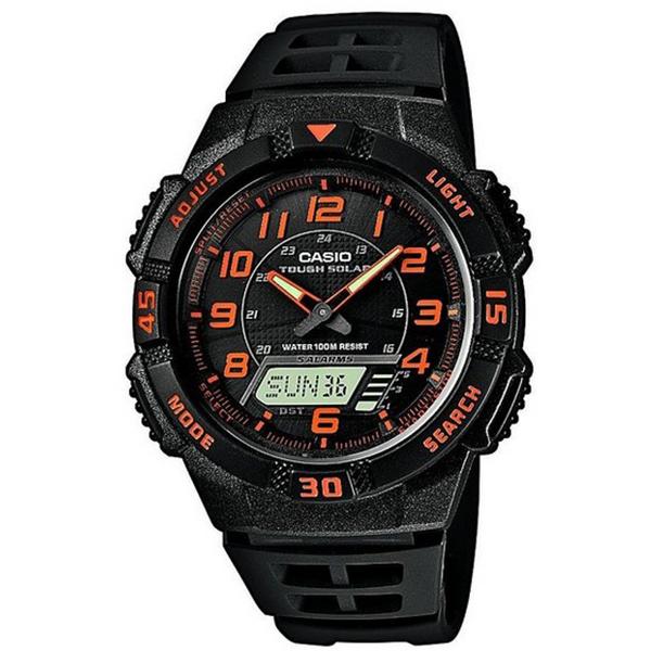 CASIO CA5 Hλιακό-Φως Παγκόσμια ώρα Χρονόμετρο Τimer 5 ξυπνητήρια Ημερολόγιο 12/24 Ένδειξη μπαταρίας