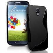 YouSave Accessories για Samsung Galaxy S4 Μαύρη θήκη Gel S-Line και Μεμβράνη Προστασίας Οθόνης(ΚΙΝ105)