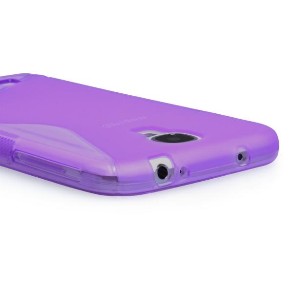 YouSave Accessories για Samsung Galaxy S4 Μωβ θήκη Gel S-Line και Μεμβράνη Προστασίας Οθόνης(ΚΙΝ191)