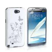 YouSave Accessories για Samsung Galaxy Note 2 Λευκή IMD Θήκη και Μεμβράνη Προστασίας Οθόνης(ΚΙΝ203)