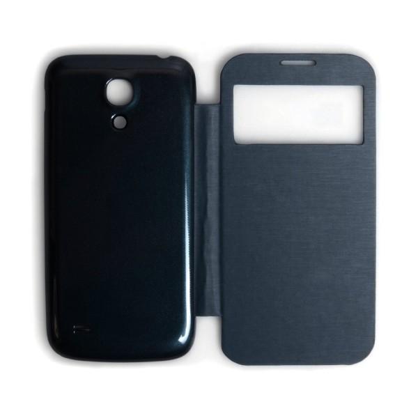 Caseflex για Samsung Galaxy S4_MINI Battery S-View Cover και Μεμβράνη Προστασίας Οθόνης (ΚΙΝ233NAVY)