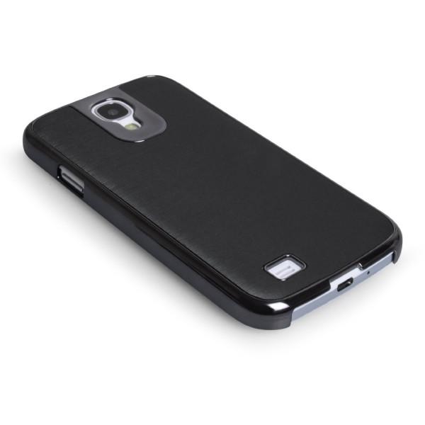 Caseflex για Samsung Galaxy S4 Brushed Aluminium Back Cover και Μεμβράνη Προστασίας Οθόνης (ΚΙΝ238)