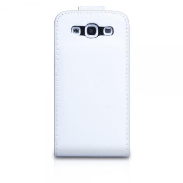 YouSave Accessories για Samsung Galaxy S3 Δερμάτινη PU Λευκή Θήκη Flip και Μεμβράνη Προστασίας Οθόνης(ΚΙΝ251)