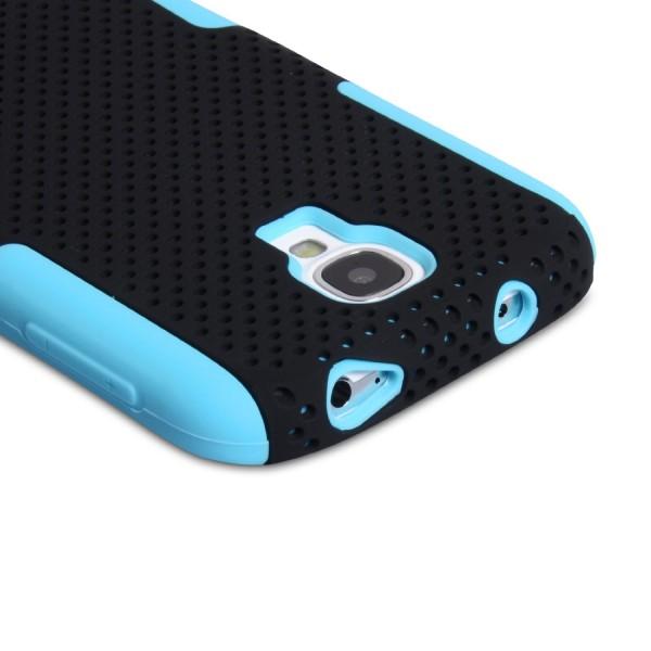 YouSave Accessories για Samsung Galaxy S4 Μπλε Mesh Combo Θήκη και Μεμβράνη Προστασίας Οθόνης(ΚΙΝ276BLU)