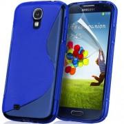 YouSave Accessories για Samsung Galaxy S4 Μπλε θήκη Gel S-Line και Μεμβράνη Προστασίας Οθόνης(ΚΙΝ277)