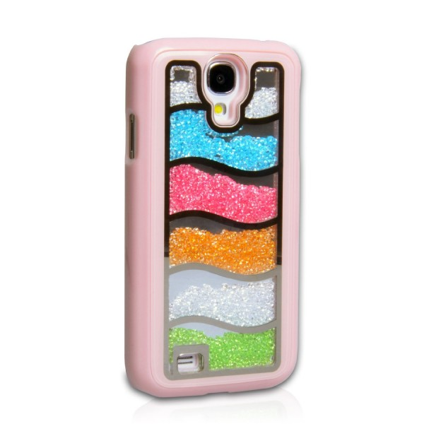 YouSave Accessories για Samsung Galaxy S4 Baby Pink Rainbow Glitter Hard Cover και Μεμβράνη Προστασίας Οθόνης(ΚΙΝ279PINK)