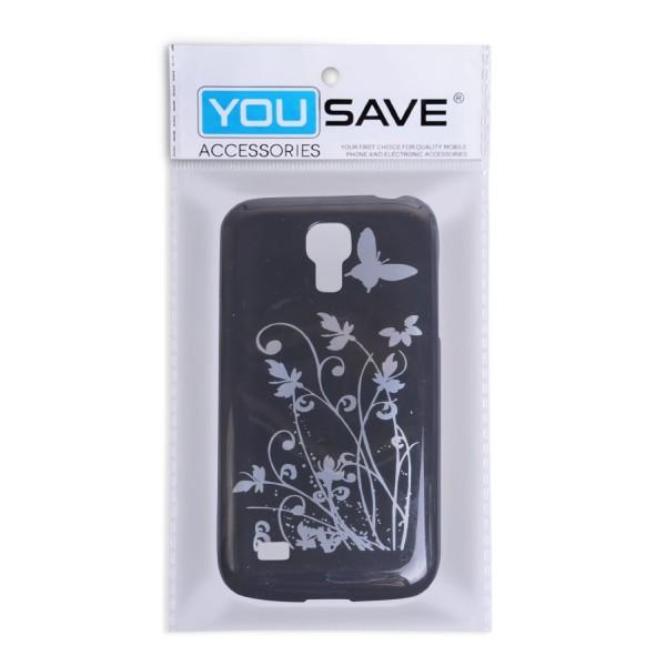 YouSave Accessories για Samsung Galaxy S4 Μαύρη IMD Θήκη και Μεμβράνη Προστασίας Οθόνης(ΚΙΝ301)