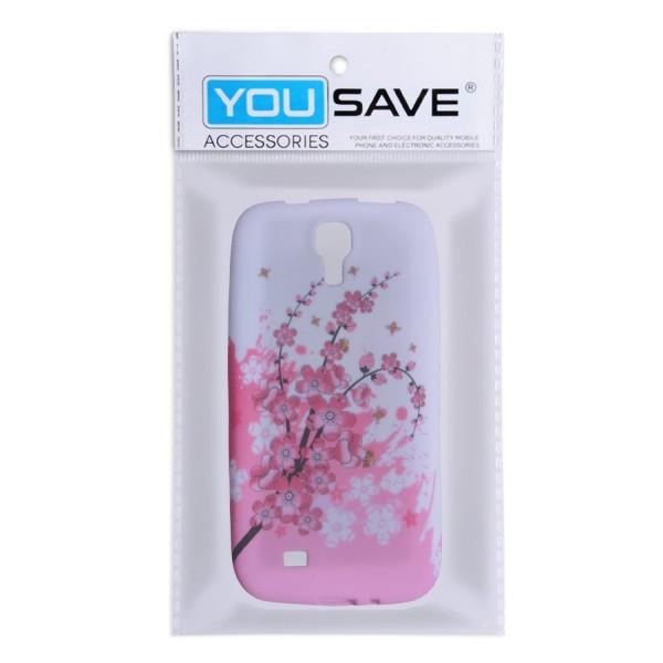YouSave Accessories για Samsung Galaxy S4 Floral Bee Gel Θήκη και Μεμβράνη Προστασίας Οθόνης(ΚΙΝ302)
