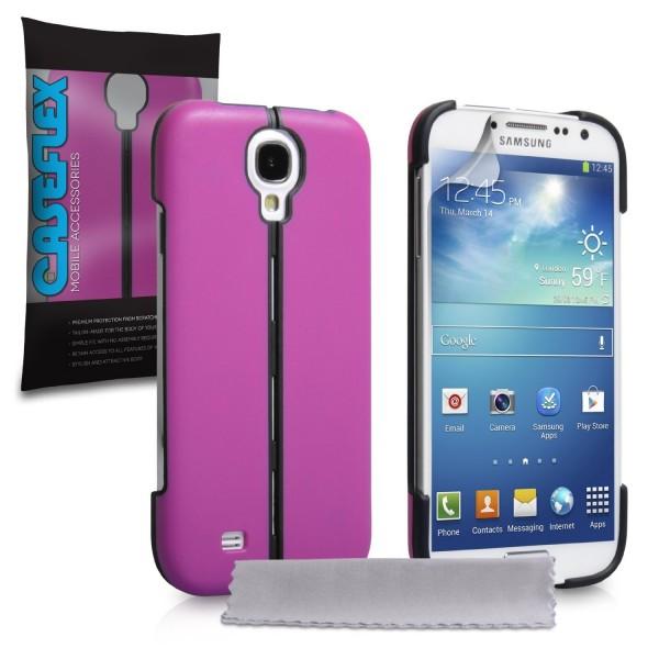 Caseflex για Samsung Galaxy S4 Μωβ Hard Stand Cover και Μεμβράνη Προστασίας Οθόνης(KIN316)