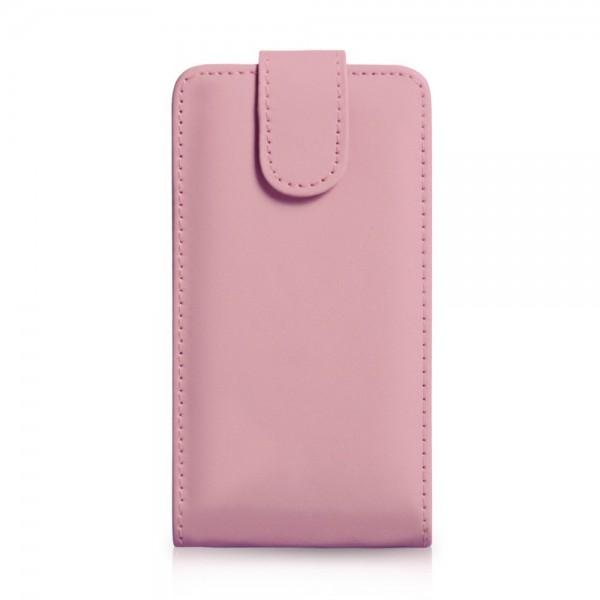 YouSave Accessories για Samsung Galaxy S4 Δερμάτινη PU Baby Pink Θήκη Flip και Μεμβράνη Προστασίας Οθόνης(ΚΙΝ320)