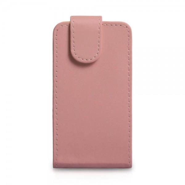 YouSave Accessories για Nokia Lumia 620 Δερμάτινη PU Baby Pink Θήκη Flip και Μεμβράνη Προστασίας Οθόνης(ΚΙΝ328)