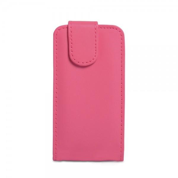 YouSave Accessories για Nokia Lumia 620 Δερμάτινη PU Hot Pink Θήκη Flip και Μεμβράνη Προστασίας Οθόνης(ΚΙΝ329)