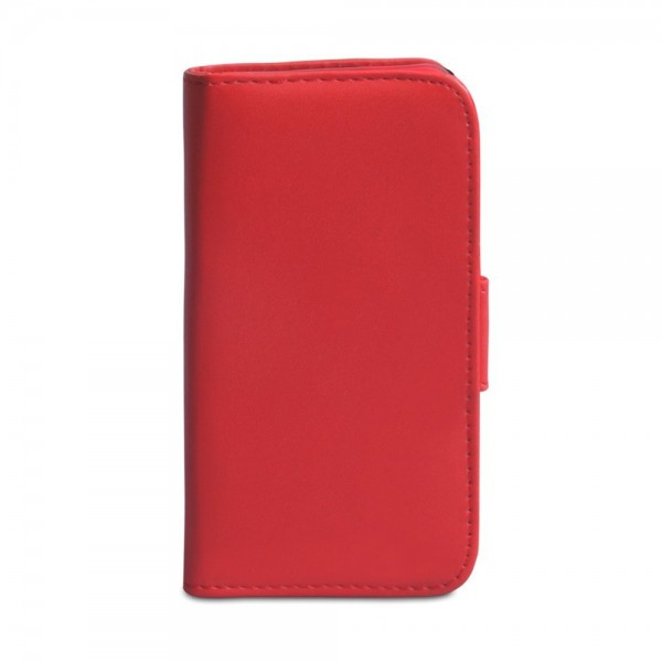 YouSave Accessories για Nokia Lumia 620 Δερμάτινη PU Κόκκινη θήκη Wallet και Μεμβράνη Προστασίας Οθόνης(ΚΙΝ332)
