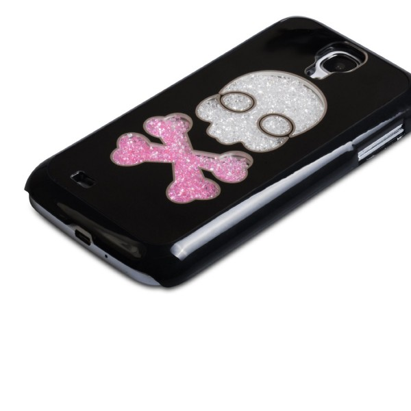 YouSave Accessories για Samsung Galaxy S4 Black Skull Hard Cover και Μεμβράνη Προστασίας Οθόνης(ΚΙΝ333)