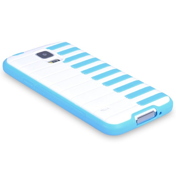 YouSave Accessories για Samsung Galaxy S5 Piano Gel Θήκη και Screen_Protector - Μπλε(ΚΙΝ363)