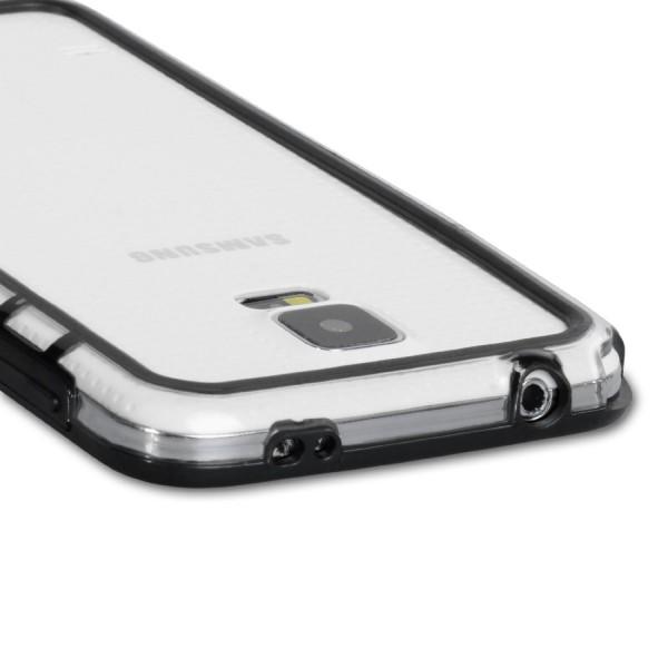 YouSave Accessories για Samsung Galaxy S5 Θήκη Bumper και Screen_Protector - Μαύρη/Διάφανη(ΚΙΝ367)