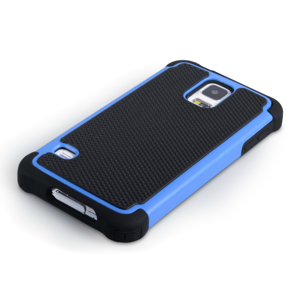 YouSave Accessories για Samsung Galaxy S5 Θήκη Grip Combo και Screen_Protector - Μπλε(ΚΙΝ369)