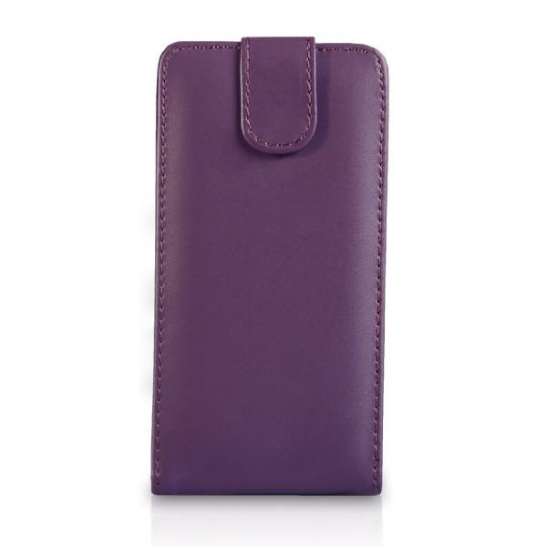 YouSave Accessories για Samsung Galaxy S4 Δερμάτινη PU Μωβ Θήκη Flip και Μεμβράνη Προστασίας Οθόνης(ΚΙΝ319)
