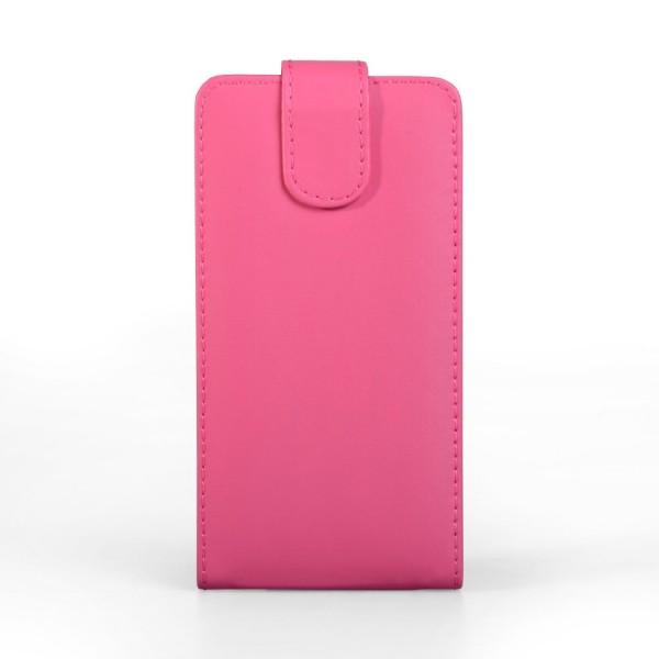 YouSave Accessories για Samsung Galaxy S5 Δερμάτινη PU Hot Pink Θήκη Flip και Μεμβράνη Προστασίας Οθόνης(ΚΙΝ375)