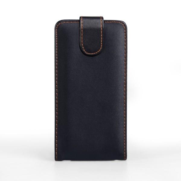 YouSave Accessories για Samsung Galaxy S5 Δερμάτινη PU Μαύρη Θήκη Flip και Μεμβράνη Προστασίας Οθόνης(ΚΙΝ376)
