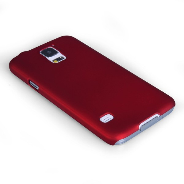 YouSave Accessories για Samsung Galaxy S5 Κόκκινη Θήκη Hybrid και Μεμβράνη Προστασίας Οθόνης(ΚΙΝ382)
