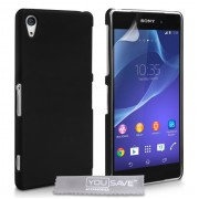 YouSave Accessories για Sony Xperia Z2 Θήκη Hybrid και Screen_Protector - Μαύρη(ΚΙΝ390)
