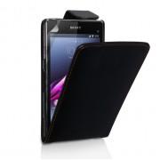 YouSave Accessories για Sony Xperia Z1 Compact Δερμάτινη PU Θήκη Flip και Screen_Protector - Μαύρη(ΚΙΝ397)