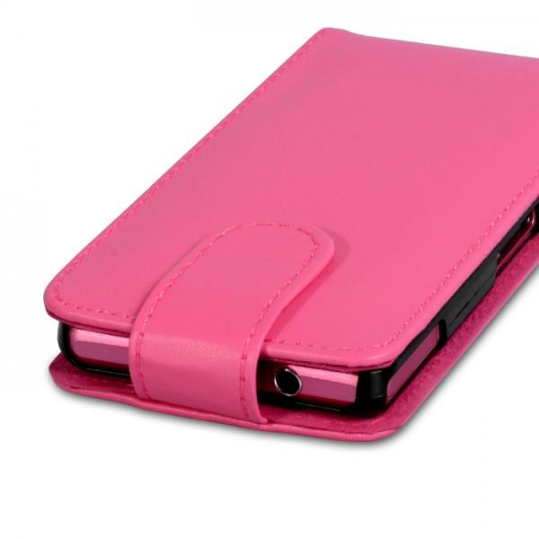 YouSave Accessories για Sony Xperia Z1 Compact Δερμάτινη PU Θήκη Flip και Screen_Protector - Ροζ(ΚΙΝ399)