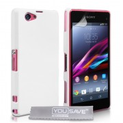 YouSave Accessories για Sony Xperia Z1 Compact Θήκη Hybrid και Screen_Protector - Λευκή(ΚΙΝ403WH)