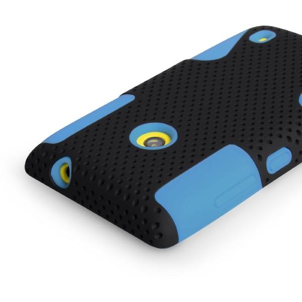YouSave Accessories για Nokia Lumia 520 ΠΡΑΣΙΝΗ Mesh Combo Θήκη και Screen_Protector(ΚΙΝ405BLU)