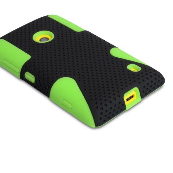 YouSave Accessories για Nokia Lumia 520 Πράσσινη Mesh Combo Θήκη και Screen_Protector(ΚΙΝ405GR)