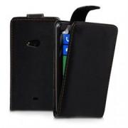 YouSave Accessories για Nokia X Δερμάτινη PU Θήκη Flip και Screen_Protector - Μαύρη(ΚΙΝ415)