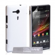 YouSave Accessories για Sony Xperia SP Θήκη Hybrid και Screen_Protector - Λευκή(ΚΙΝ430WH)
