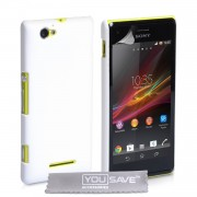 YouSave Accessories για Sony Xperia M Θήκη Hybrid και Screen_Protector - Λευκή(ΚΙΝ432WH)