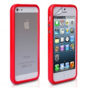 YouSave Accessories για Apple iPhone 5/5S Θήκη Bumper και Screen_Protector - Κόκκινη(KIN444RED)