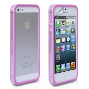 YouSave Accessories για Apple iPhone 5/5S Θήκη Bumper και Screen_Protector - Μωβ/Διάφανη(ΚΙΝ445PUR)