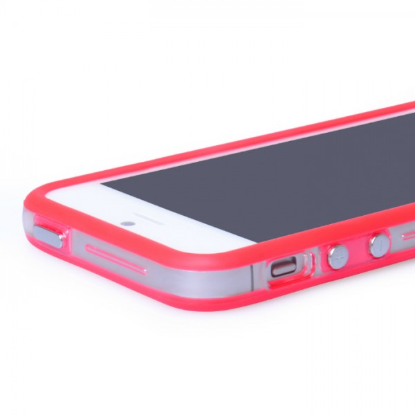 YouSave Accessories για Apple iPhone 5/5S Θήκη Bumper και Screen_Protector - Κόκκινη/Διάφανη(ΚΙΝ445 RED)