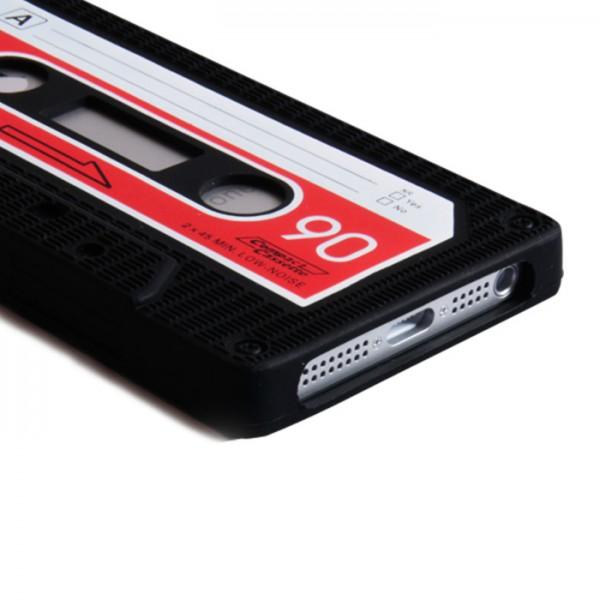 YouSave Accessories για Apple iPhone 5/5S Μαύρη Θήκη Cassette και Screen_Protector(ΚΙΝ448)