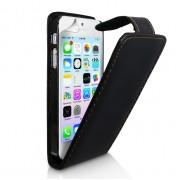 YouSave Accessories για Apple iPhone 5/5S Δερμάτινη PU Θήκη Flip και Screen_Protector - Μαύρη(ΚΙΝ451)