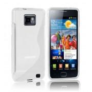 Advanced Accessories για Samsung Galaxy S2 Λευκή θήκη Gel S-Line και Μεμβράνη Προστασίας και πανάκι καθαρισμού(ΚΙΝ067)